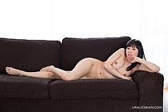 Lying On Sofa Naked Bare Feet